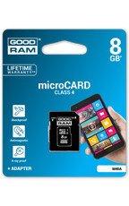 Goodram Karta pamięci microSDHC 4GB z adapterem SD