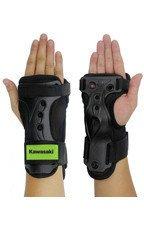 Kawasaki ochraniacze na dłonie i nadgarstki czarno-zielone roz. L