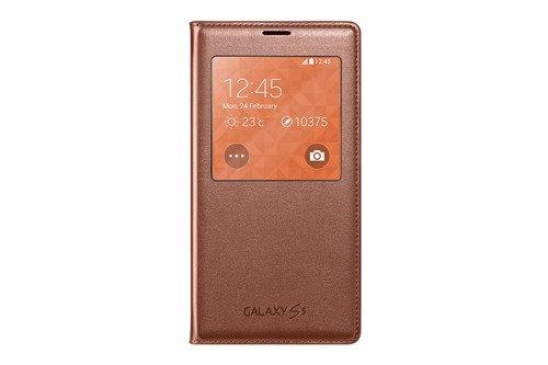 Etui Samsung S View Różowe-Złoto do Galaxy S5 EF-CG900BFEGWW