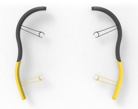 Parrot Bebop Zderzaki boczne Żółte (PF070104AA)