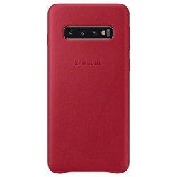 Etui Samsung Leather Cover Czerwony do Galaxy S10 (EF-VG973LREGWW)