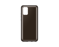 Etui Samsung Soft Clear Cover Czarny do Galaxy A02s (EF-QA026TBEGEU)