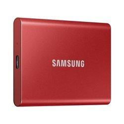 SAMSUNG T7 Dysk zewnetrzny SSD 2TB Czerwony USB 3.2 (MU−PC2T0R/WW)