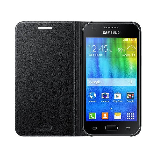 Etui Flip Cover Czarne do Samsung Galaxy J1 (EF-FJ100BBEGWW)