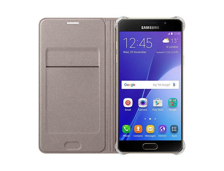 Etui Flip Wallet Złote do Galaxy A5 2016 (EF-WA510PFEGWW)
