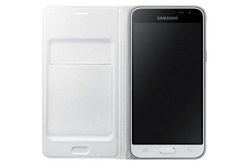 Etui Flip Wallet do Samsung Galaxy J3 (2016) Biały EF-WJ320PWEGWW