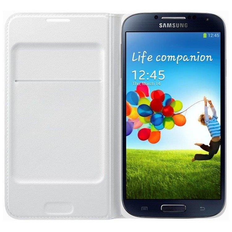 Etui Flip Wallet do Samsung Galaxy S4 Białe (EF-NI950BWEGWW)