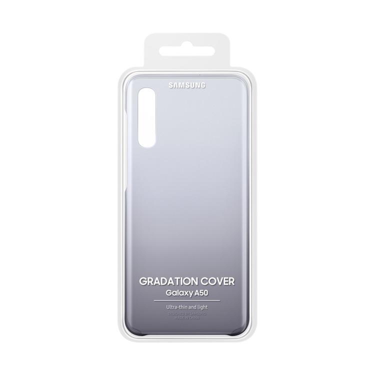 Etui Samsung Gradation Cover Czarne do Galaxy A50 (EF-AA505CBEGWW)