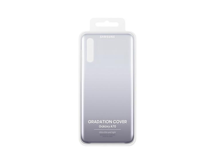 Etui Samsung Gradation Cover Czarne do Galaxy A70 ( EF-AA705CBEGWW)