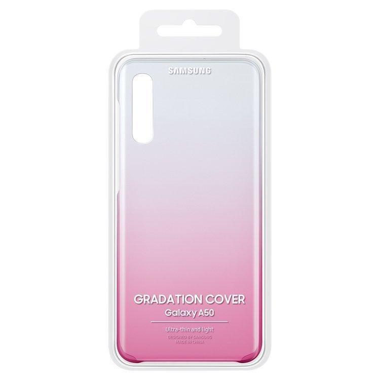 Etui Samsung Gradation Cover Różowe do Galaxy A50 (EF-AA505CPEGWW)