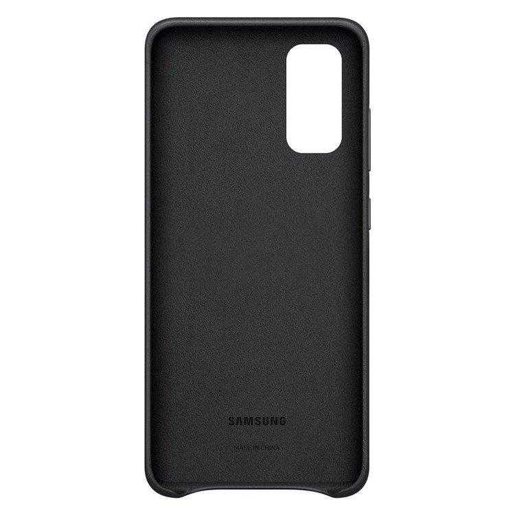 Etui Samsung Leather Cover Czarne do Galaxy S20 (EF-VG980LBEGEU)