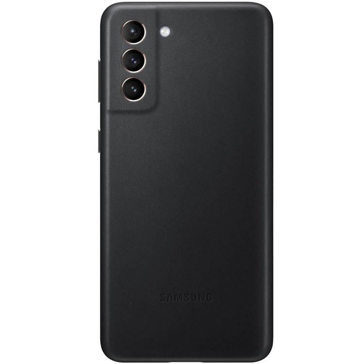 Etui Samsung Leather Cover Czarne do Galaxy S21+ (EF-VG996LBEGWW)