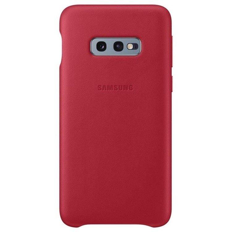 Etui Samsung Leather Cover Czerwony do Galaxy S10e (EF-VG970LREGWW)