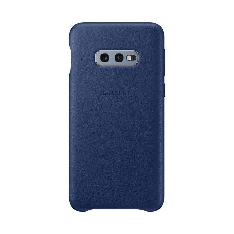 Etui Samsung Leather Cover Granatowy do Galaxy S10e (EF-VG970LNEGWW)