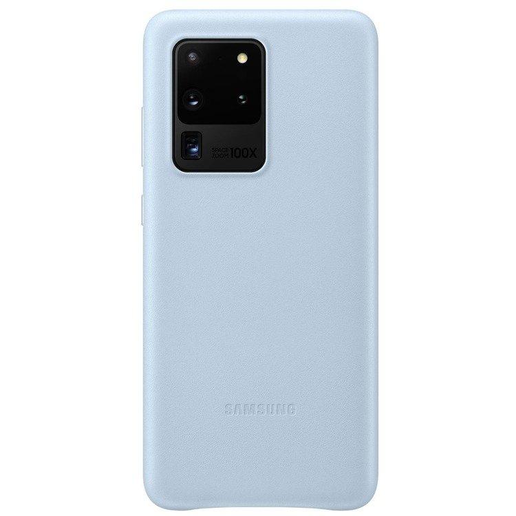 Etui Samsung Leather Cover Niebieskie do Galaxy S20 Ultra (EF-VG988LLEGEU)