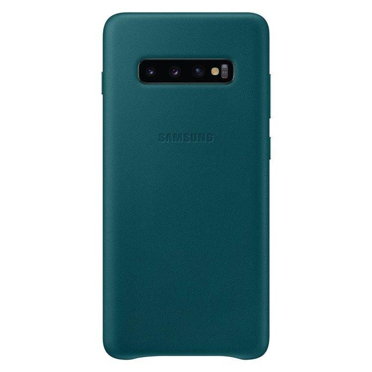 Etui Samsung Leather Cover Zielony do Galaxy S10+ (EF-VG975LGEGWW)