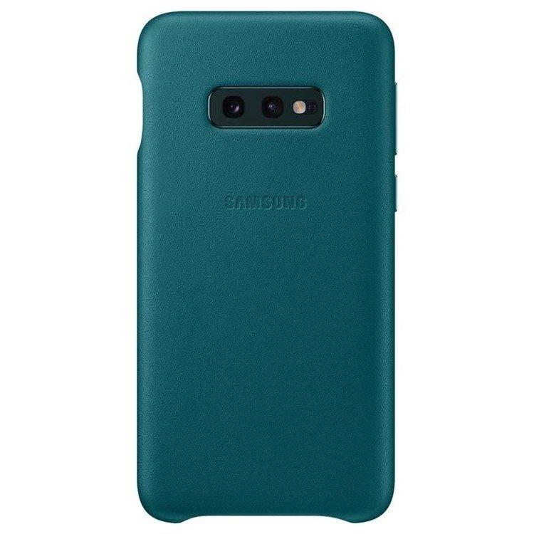 Etui Samsung Leather Cover Zielony do Galaxy S10e (EF-VG970LGEGWW)