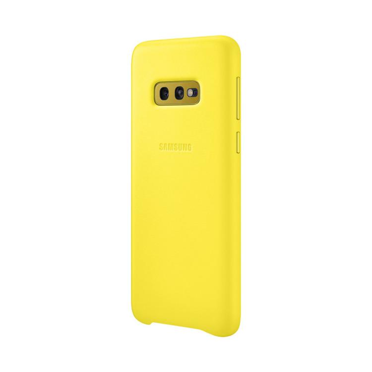 Etui Samsung Leather Cover Żółty do Galaxy S10e (EF-VG970LYEGWW