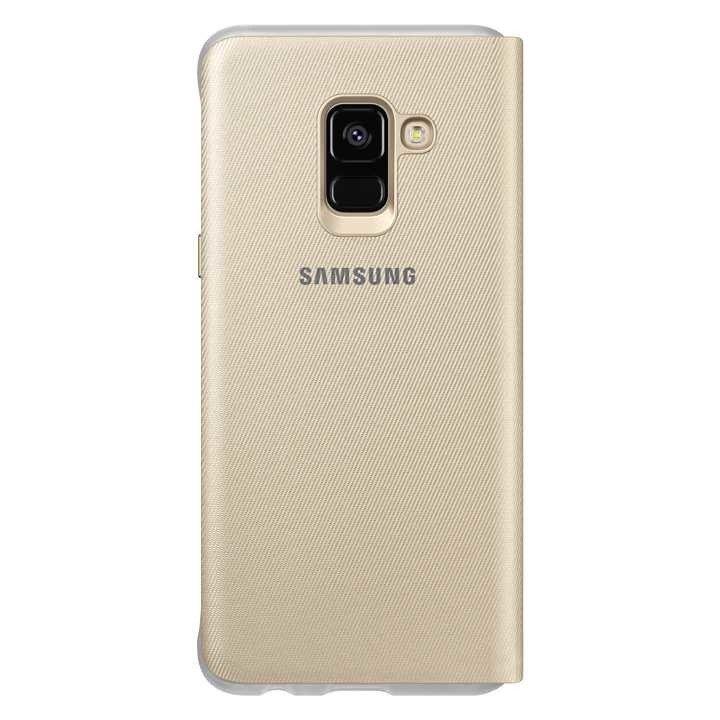 Etui Samsung Neon Flip Cover do Galaxy A8 2018 Złote