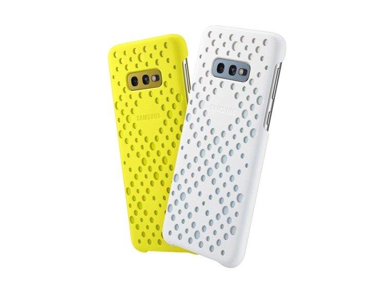 Etui Samsung Pattern Cover Żółty/Biały do Galaxy S10e (EF-XG970CWEGWW)