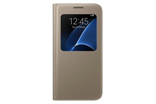 Etui Samsung S View Cover Złote do Galaxy S7 EF-CG930PFEGWW