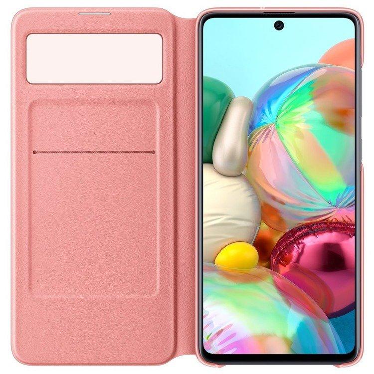 Etui Samsung S View Wallet Cover Białe do Galaxy A71 (EF-EA715PWEGEU)