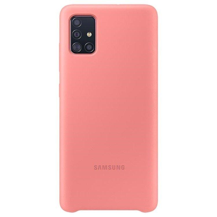 Etui Samsung Silicone Cover Różowy do Galaxy A51 (EF-PA515TPEGEU)