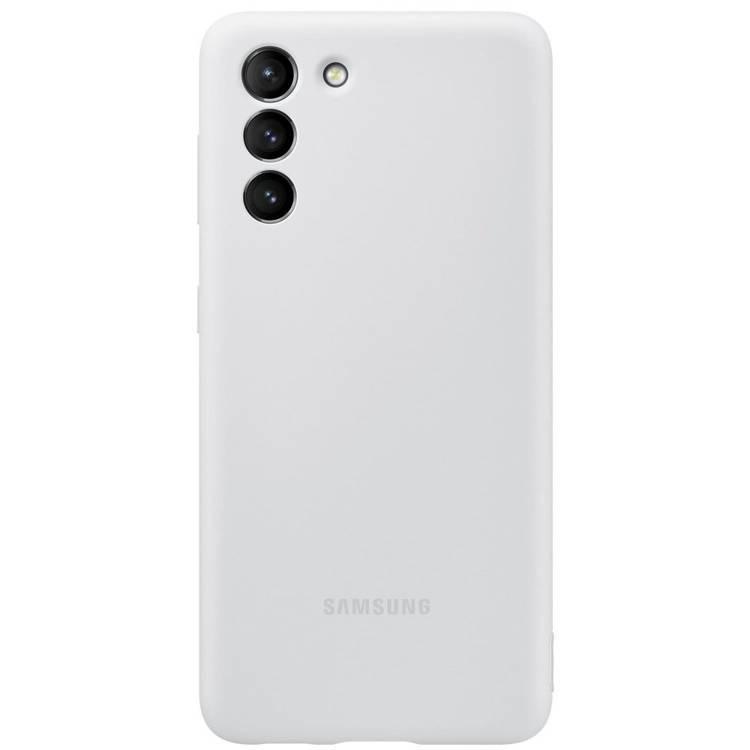 Etui Samsung Silicone Cover Szary do Galaxy S21 (EF-PG991TJEGWW)