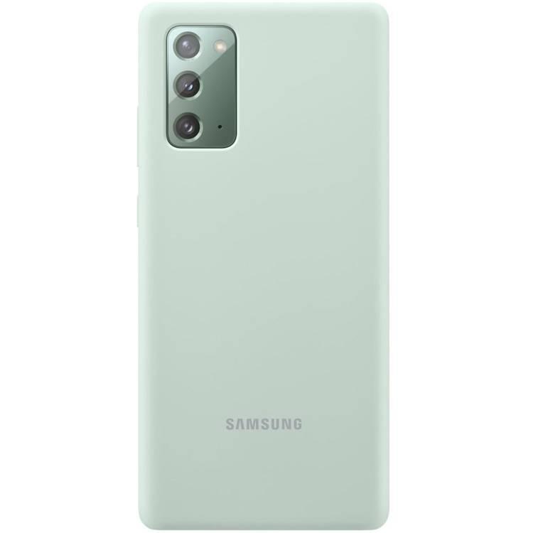 Etui Samsung Silicone Cover Zielony do Galaxy Note 20 (EF-PN980TMEGEU)