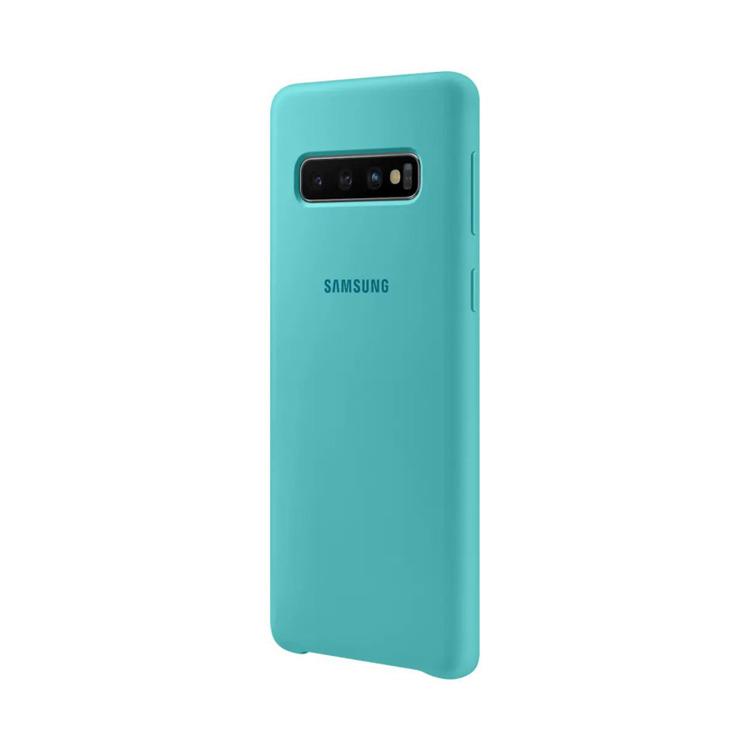 Etui Samsung Silicone Cover Zielony do Galaxy S10 (EF-PG973TGEGWW)
