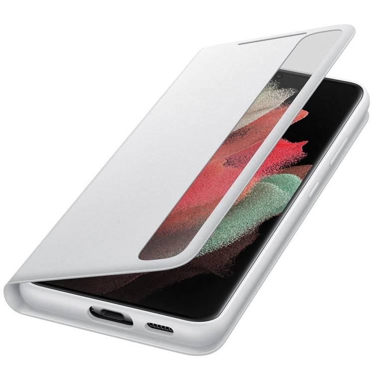 Etui Samsung Smart CLEAR View Cover Szary do Galaxy S21 Ultra (EF-ZG998CJEGEE)