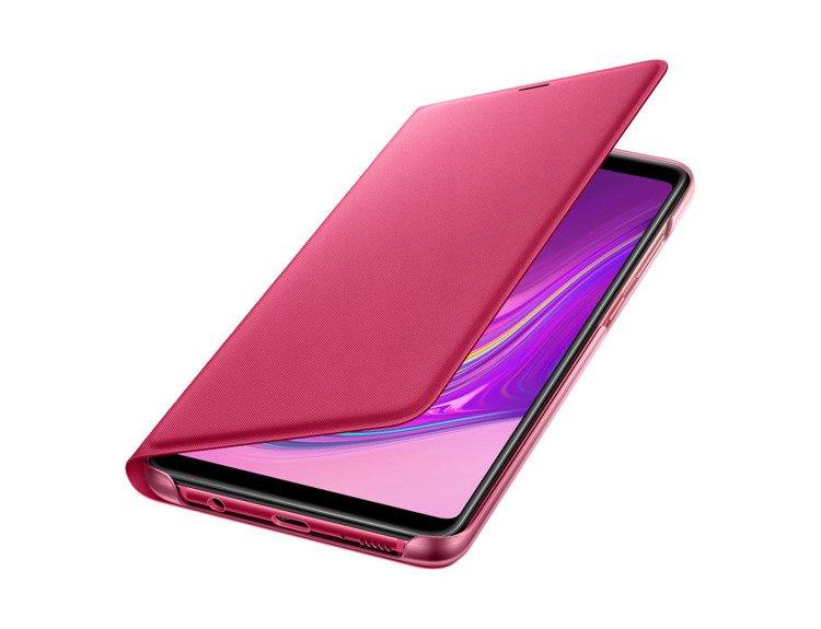 Etui Samsung Wallet Cover Różowe do Galaxy A9 (2018) EF-WA920PPEGWW