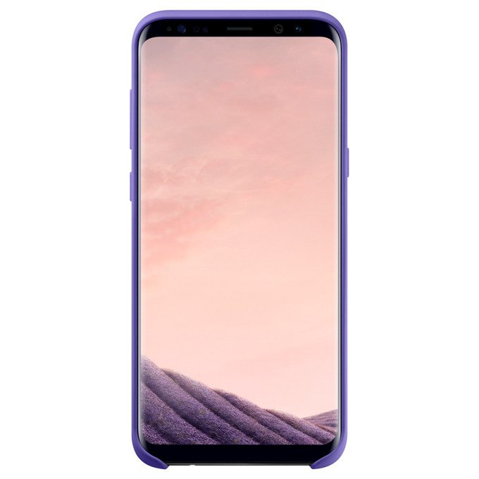 Etui Silicone Cover do Galaxy S8+ Fioletowe (EF-PG955TVEGWW)