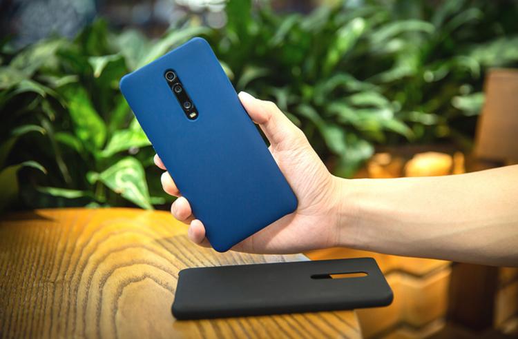 Etui oryginalne Xiaomi Silicon Case Blue do Xiaomi Mi 9T Niebieskie