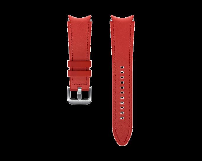 Pasek Samsung Hybrid Leather 20mm S/M Czerwony (ET-SHR88SREGEU)