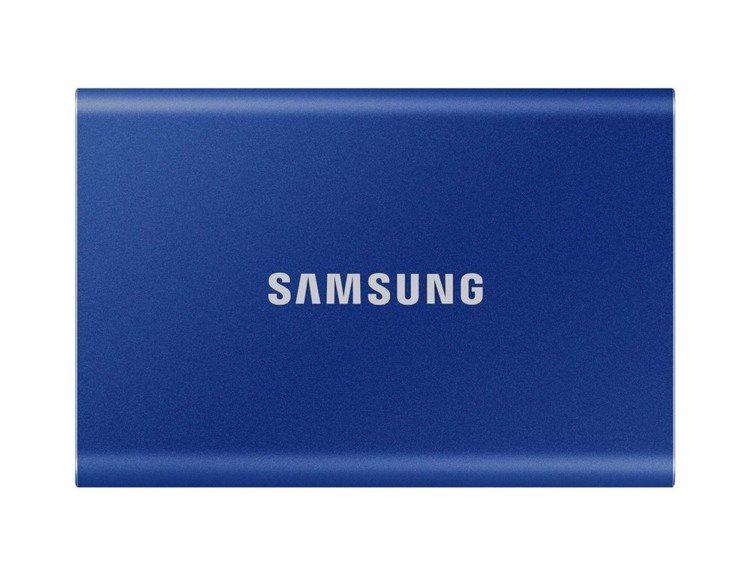 SAMSUNG T7 Dysk zewnetrzny SSD 2TB Niebieski USB 3.2 (MU−PC2T0H/WW)