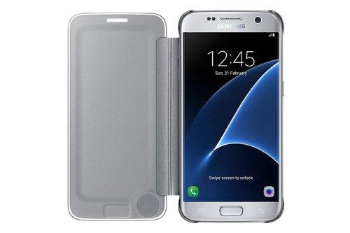 Samsung Etui Clear View Cover Srebrne do Galaxy S7 EF-ZG930CSEGWW