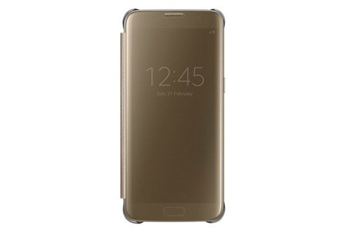 Samsung Etui Clear View Cover Złote do Galaxy S7 edge EF-ZG935CFEGWW