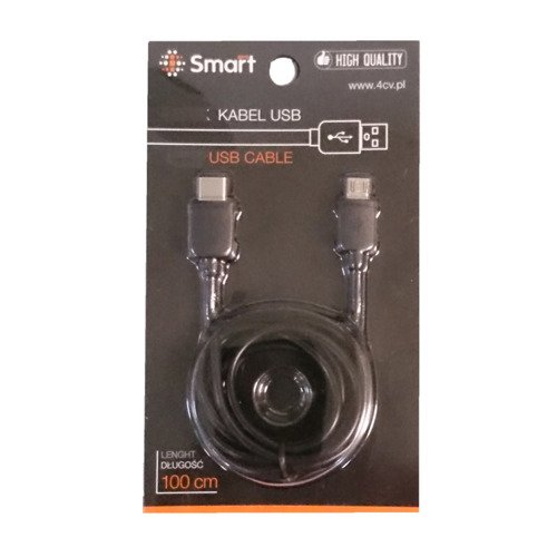 SmartGPS Kabel microUSB - USB-C Czarny KBO03