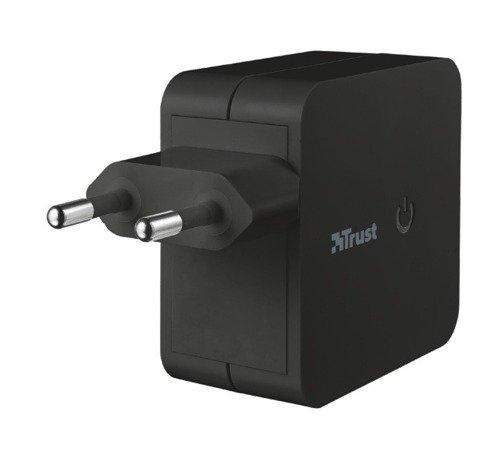 TRUST URBAN Ładowarka sieciowa USB 2x12W Czarna